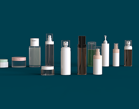 3D bottle Cosmetics