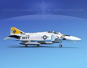3D model McDonnell Douglas F-4J Phantom II V10 USN