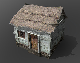 Wooden Hut 3D asset realtime