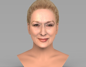 Meryl Streep bust ready for full color 3D printing