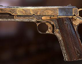 Colt 1911 Yakuza style 3D asset