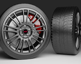 3D model Subaru Wrx Sti 2011 Rim with tire