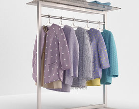 the clothes on the rack 3D