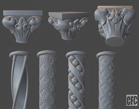 art Goth column collection 3D model