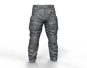 knee 3D model Crye Combat Pant High Poly