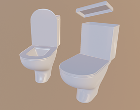 3D model rigged Toilet
