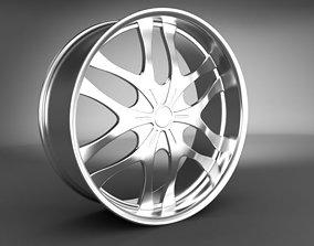 Wheel Rim 3D model auto