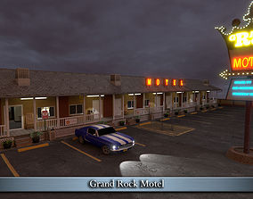 3D model VR / AR ready Grand Rock Motel