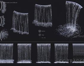 Wall Fountains Big cascade 3D model