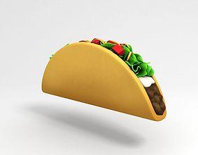 3D Cartoon Taco