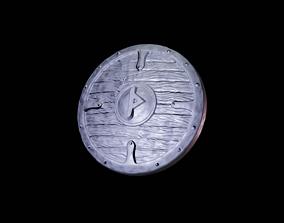 Scandinavian shield with rune Thurisaz 3D printable model