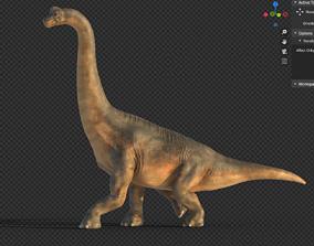 3D asset rigged VR / AR ready Brachiosaurus