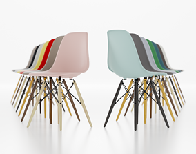 hotel Eames chair 3D model realtime