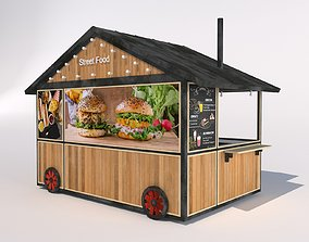 3D asset MODEL OF STREET FOOD