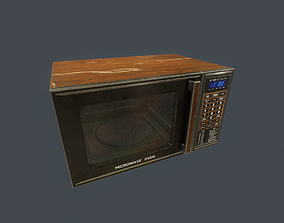 3D model Old Microwave