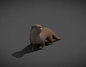 Otter 3D asset