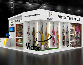 exhibition 3D model Exhibition Stand size 7x7Mtr