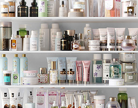 Huge set of cosmetics powder 3D