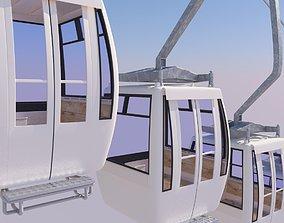 cableway car 3D model skiing