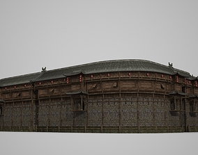 3D Model of Large Ancient Building House VR / AR ready