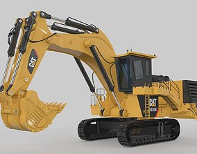 3D animated Big Excavator Rigged