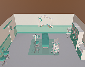 3D model Cartoon operating room