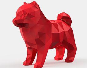 Spitz Low Poly 3D printable model