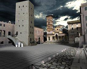 Terracina Forum Scene 3D model