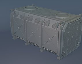 3D printable model Wargaming terrain - Cargo Crate