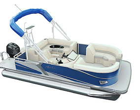 Pontoon Boat 3D model