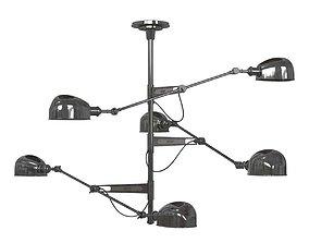 Montauk lighting co ralph lauren triple arm 3D model