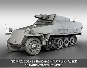 SDKFZ 251 - Ausf D - Kanonenwagen Stummel 3D model