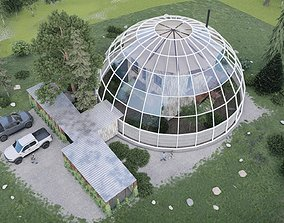 House in the dome 3D model