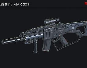 3D model Scifi Assault Rifle MAK 223