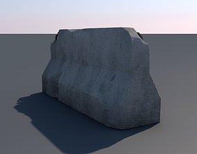 3D Concrete road block