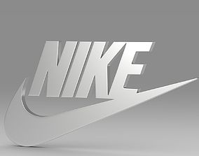 3D Nike logo high