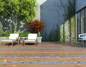 3D model Family leisure rooftop 03