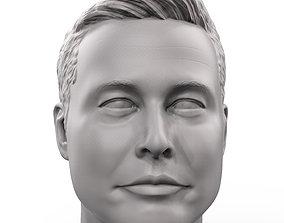 hero Elon Musk 3D printable portrait sculpture