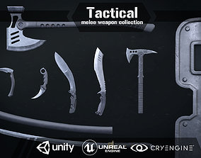 3D asset Tactical melee wepon collection
