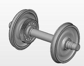 Asm Locom wheelset D1000mm 3D