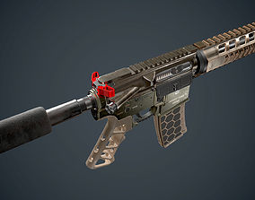 3D model AR 15 Diamondback