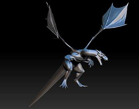 dragon fantasy and fictional creature statue 3D model