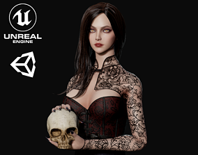 3D model Lady Vamp - Game Ready