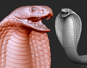 3D King Cobra Snake - Highpoly Sculpture