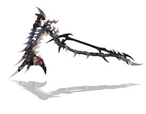 3D model game-ready Bone Scythe