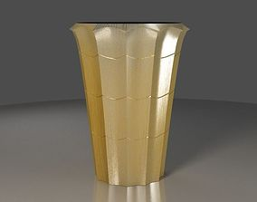 3D model Vase with yellow metal material