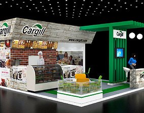 3D Exhibition stand6x6Mtr Three Side Open