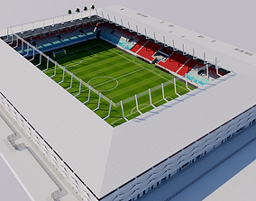 3D model New National Stadium - Luxembourg