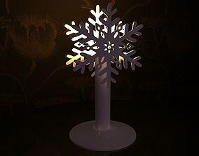 Candlestick - Snowflake 3D print model
