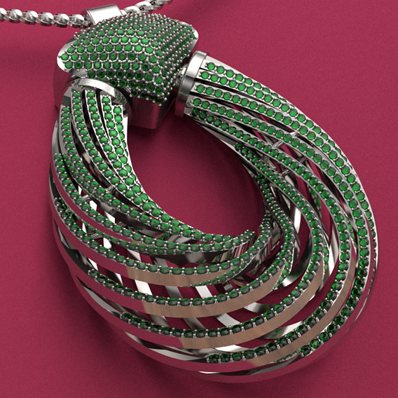 emerald stone necklace